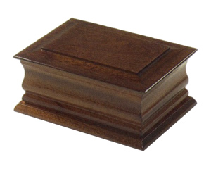 Urn in Solid Dark Mahogany